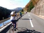 スタートしてすぐ、由良川に沿って快適に走る!